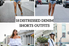 18 Outfits With Distressed Denim Shorts For Ladies