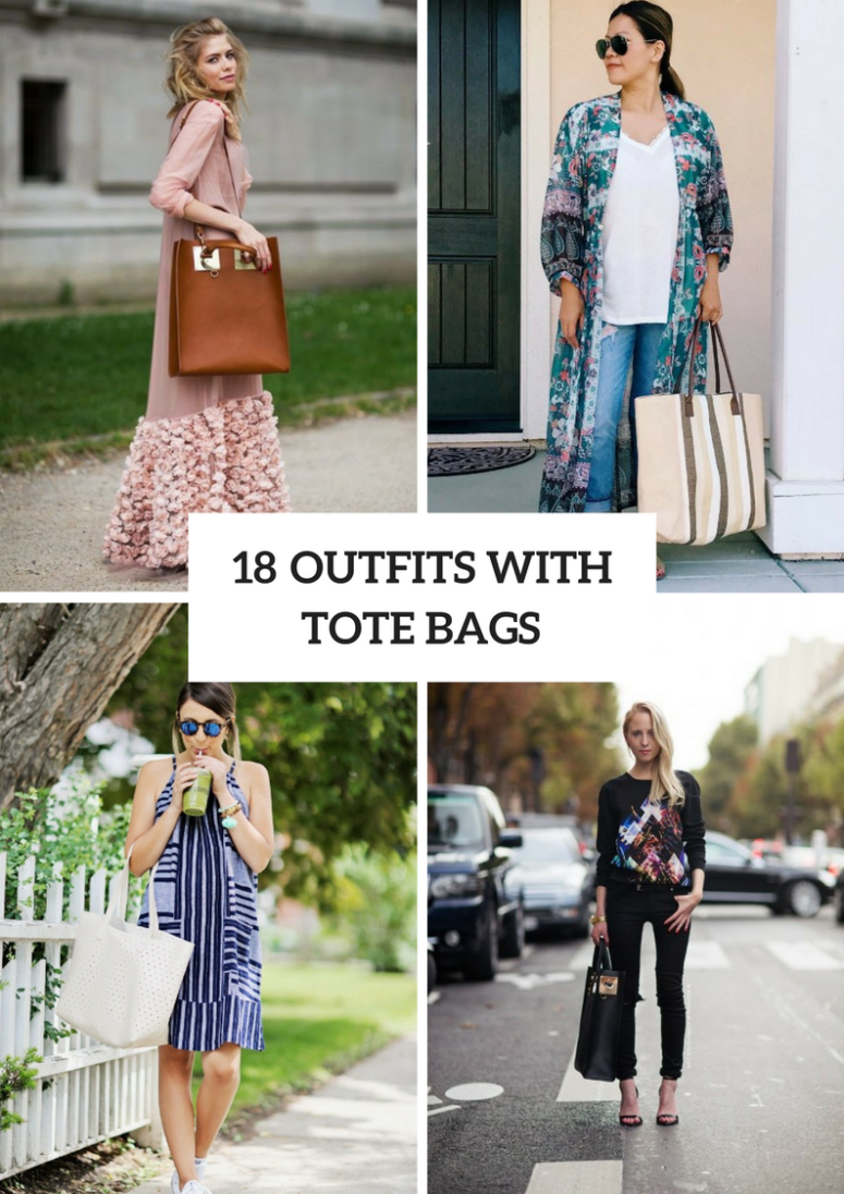 18 Outfits With Tote Bags For This Summer