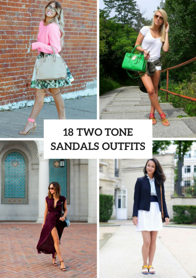 Outfits With Two Tone Sandals
