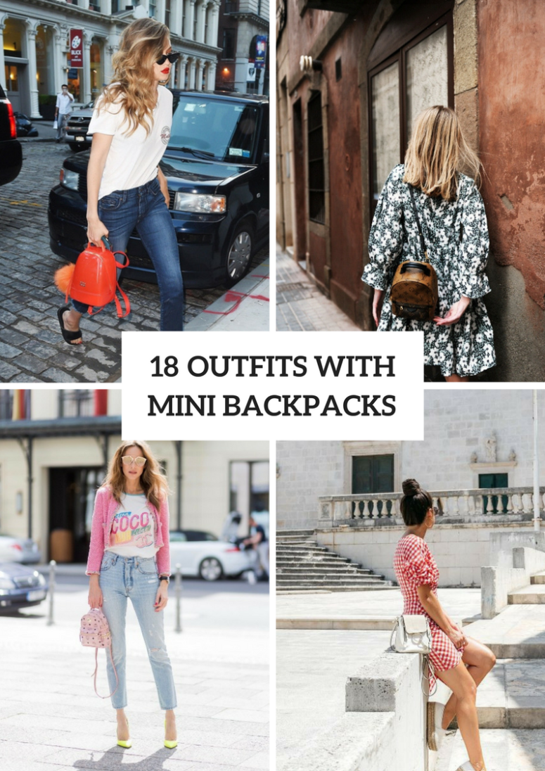18 Summer Outfits With Mini Backpacks