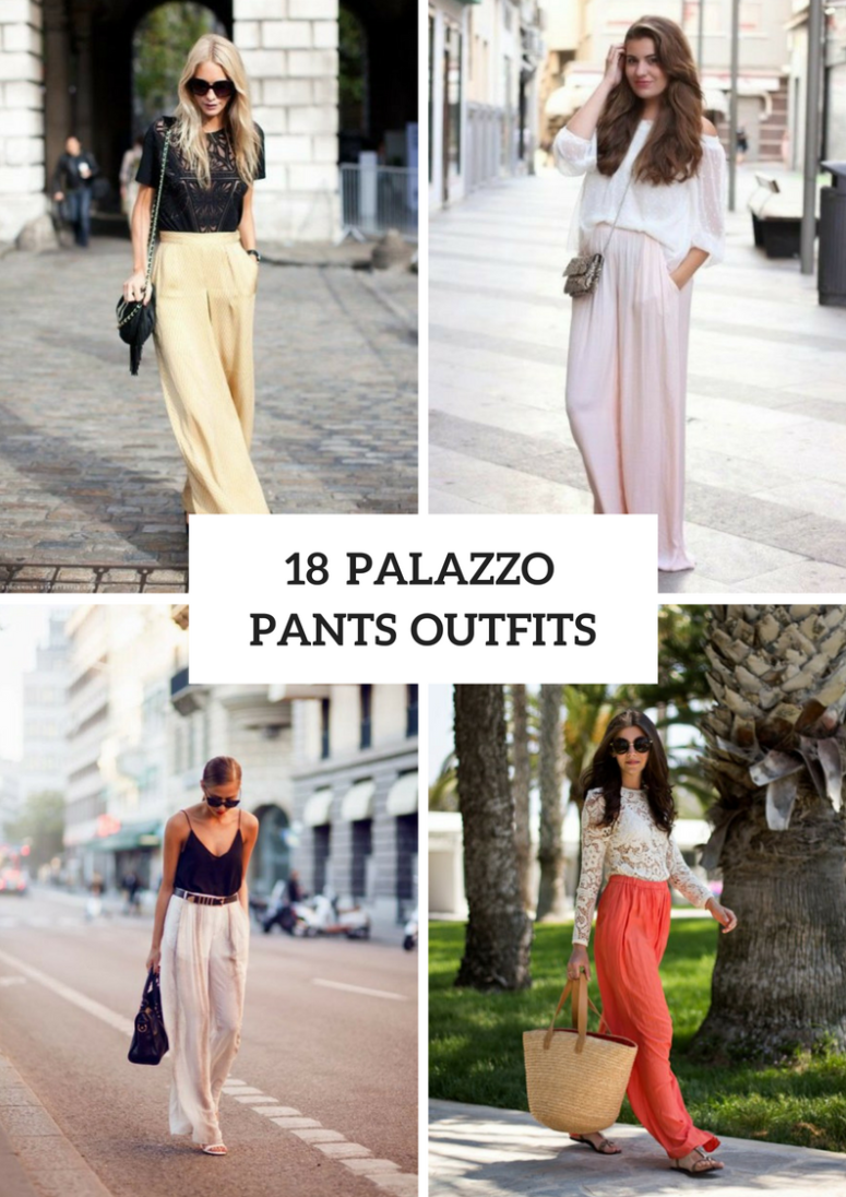 18 Wonderful Outfits With Palazzo Pants