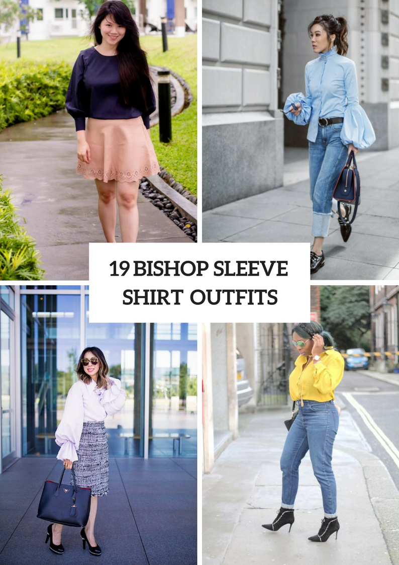 Bishop Sleeve Shirt Outfits To Try