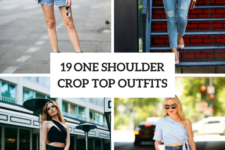 19 Outfits With One Shoulder Crop Tops