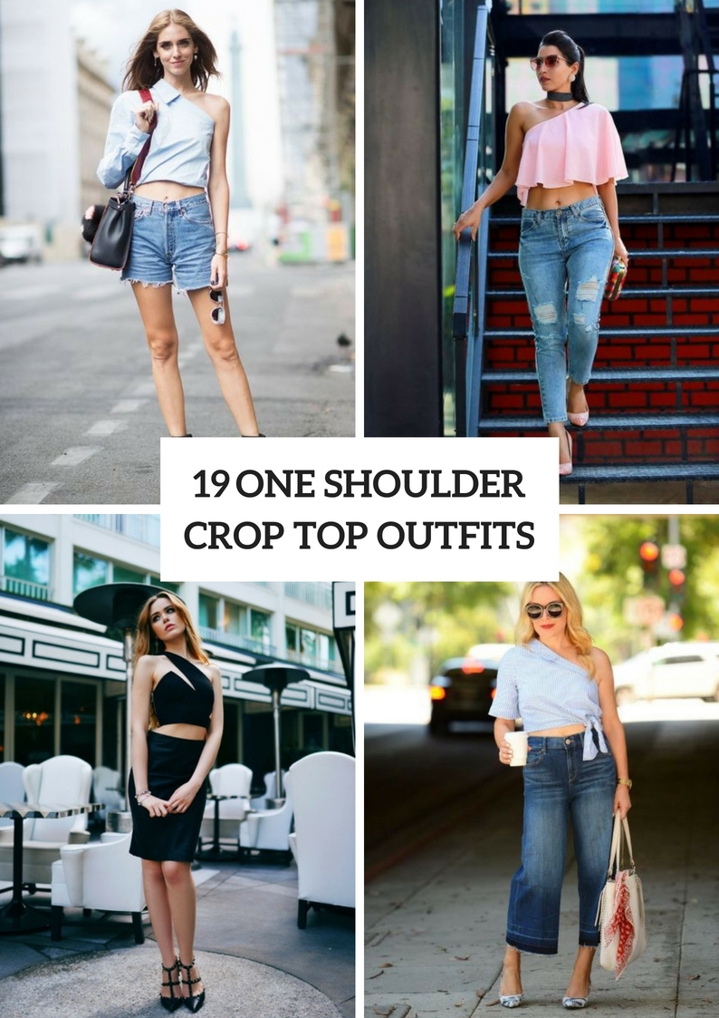 Outfits With One Shoulder Crop Tops