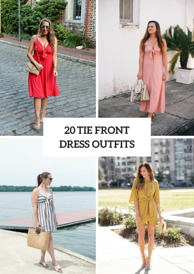 20 Comfy Outfits With Tie Front Dresses