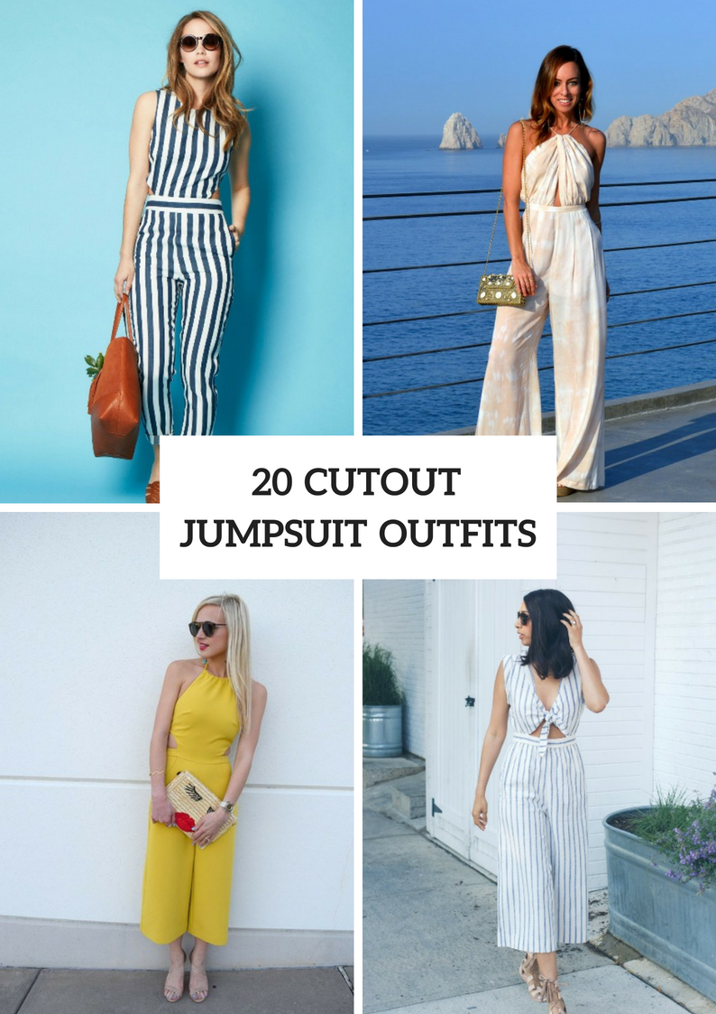 Cutout Jumpsuit Outfits For Ladies