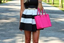 sexy summer look with a skater skirt