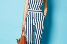 striped spring outfit