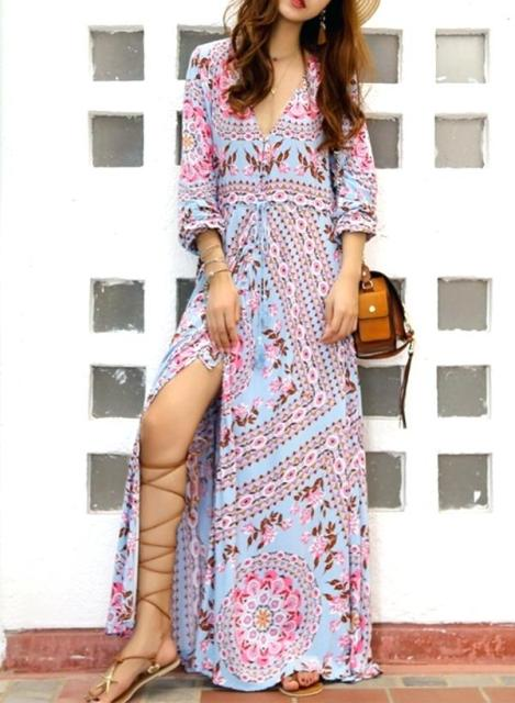 With lace up flat sandals and brown bag
