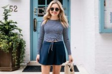 relaxed summer look with a straw bag