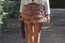 ruffle skirt summer look