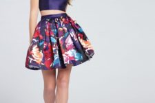 summer look with a length water color skirt