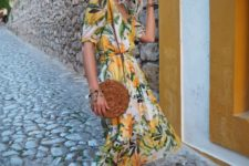 tropical dress for a hot summer look