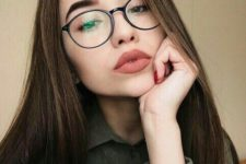 08 try large round glasses for a modern nerdy look, the frame color is up to you