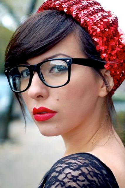 wear black square glasses for a classic touch and polished style