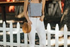 gingham outfit for spring or summer