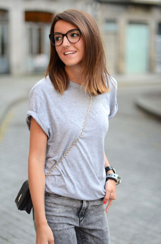 large round glasses with a slight cat-eye angle for a bold and chic look