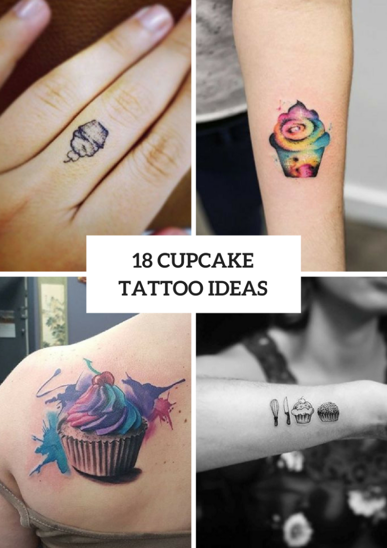 Cupcake Tattoo Ideas For Women