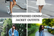 18 Outfits With Distressed Denim Jackets