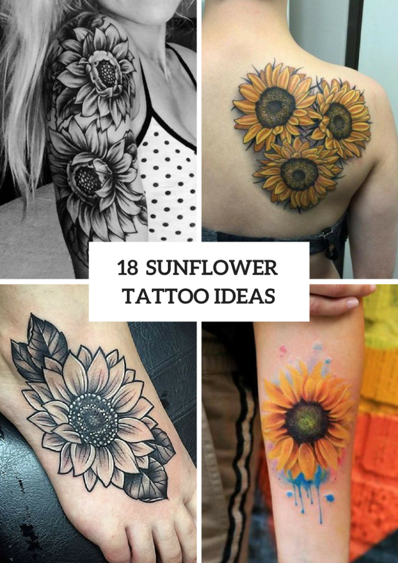 18 Sunflower Tattoo Ideas For Women