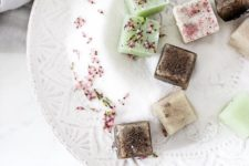 DIY various sugar scrub cubes
