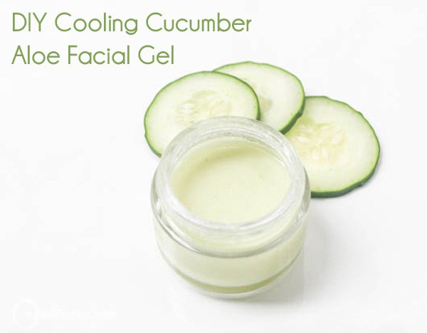 DIY cooling cucumber and aloe vera facial gel