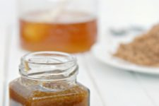 DIY brown sugar and honey scrub