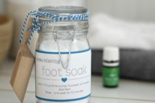 DIY stress relieving foot soak