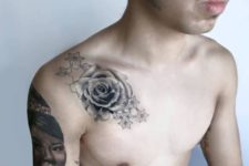 Beautiful tattoo on the shoulder