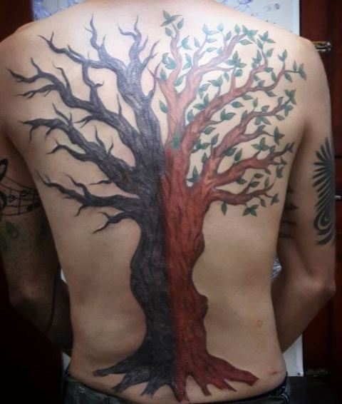 Big tattoo on the back