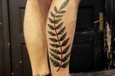 Big tattoo on the leg