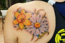 Big tattoo on the shoulder