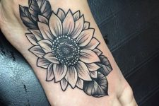 small foot tattoo