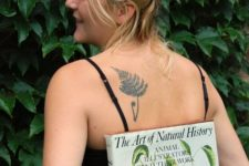 Botanical tattoo on the back