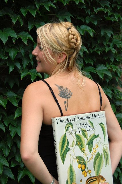 Botanical tattoo on the back