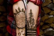 Cool tattoos on the forearms