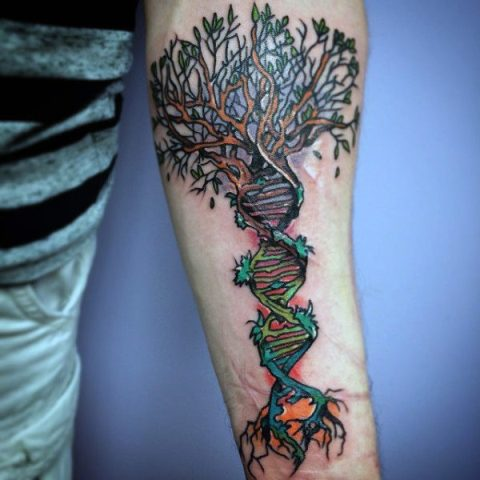 Creative tattoo on the arm