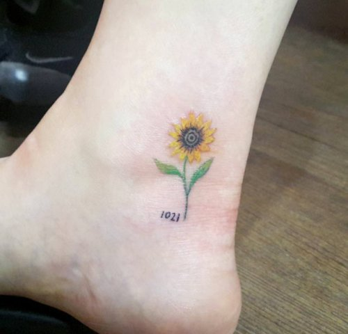 Cute tattoo on the ankle