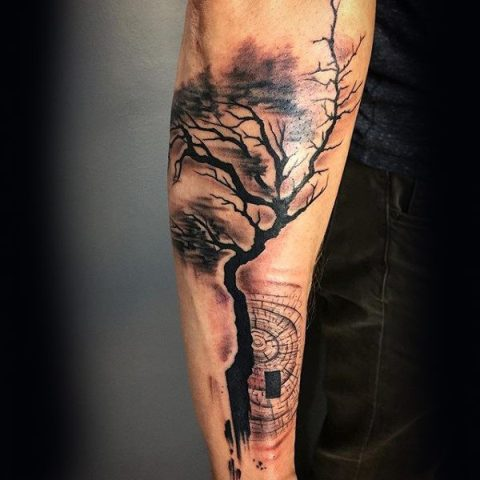 Gorgeous tattoo on the forearm