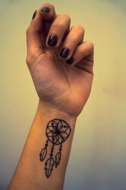 Minimalistic tattoo design on the wrist