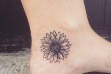 minimalist tattoo on the foot