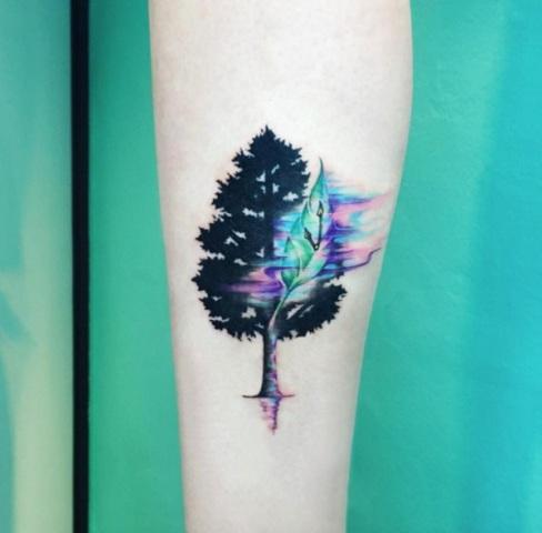 Original tattoo design on the arm