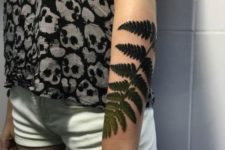 Realistic tattoo on the forearm