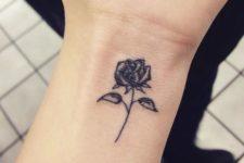 Rose tattoo on the wrist