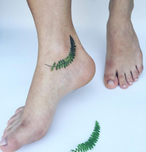 Small tattoo on the ankle
