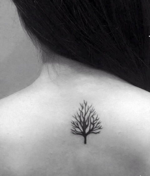Small tattoo on the back