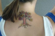 Small tattoo on the neck