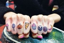 small and cute finger tattoos