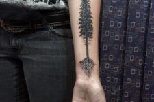 Tree tattoo on the forearm