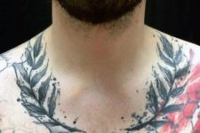 Two fern branches tattoo